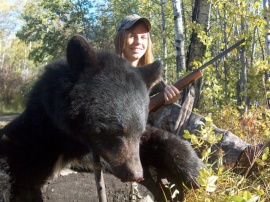 After 40 years of outfitting some of my favorite clients are still the young new hunters and young ladies who adventure in to the wilds for the trophy animals of their dreams. Alexandra is one of my favorites and her dad put their trust in my bear camp and took home quality bears. Great hunters and great people and a joy to have in camp.