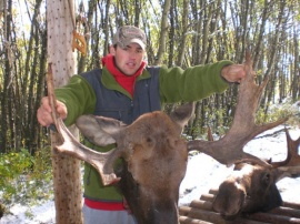 A quiet hunter with a deadly shot. His young bull didn't have a chance and Ross got to take home a trophy for his wall. Taken on a late, September hunt that was filled with all kinds of weather from snow to rain to hot days